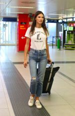BIANCA BALTI at Airport in Milan 09/24/2018
