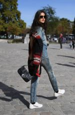 BLANCA PADILLA Out at Paris Fashion Week 09/29/2018