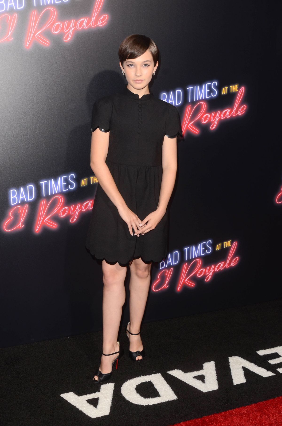 Cailee Spaeny at Bad Times at the El Royale Premiere in