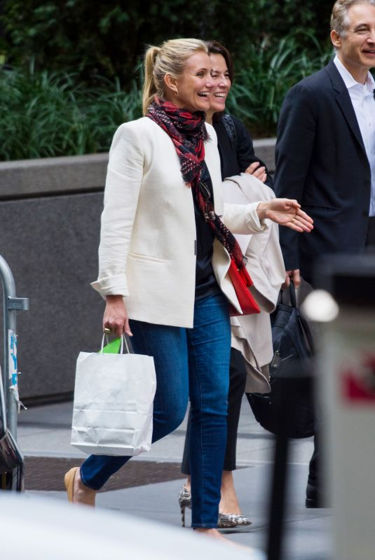 CAMERON DIAZ Out Shopping in New York 09/27/2018