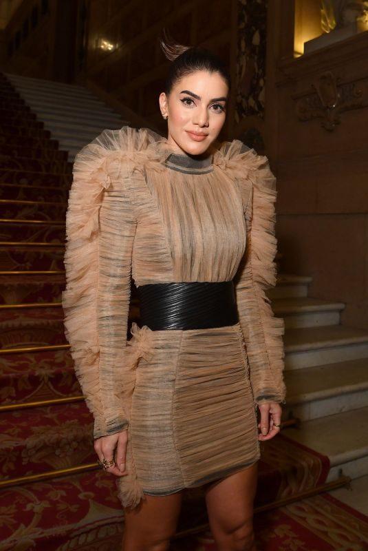 CAMILA COELHO at Balmain Show at Paris Fashion Week 09/28/2018