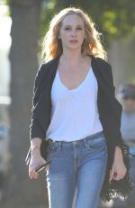 CANDICE KING in Ripped Jeans Out in Los Angeles 09/28/2018