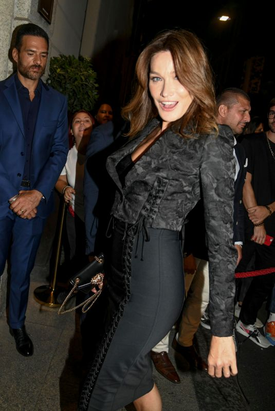 CARLA BRUNI at Domenico Dolce Nella Birthday Party in Milan 09/23/2018