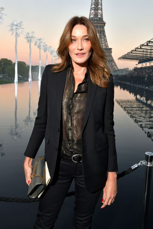 CARLA BRUNI at Saint Laurent Show at Paris Fashion Week 09/25/2018
