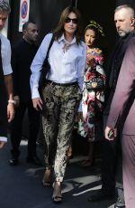 CARLA BRUNI Out at Milan Fashion Week 09/23/2018