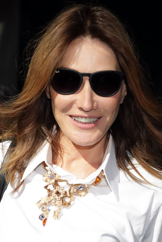 CARLA BRUNI Out at Milan Fashion Week 09/23/2018