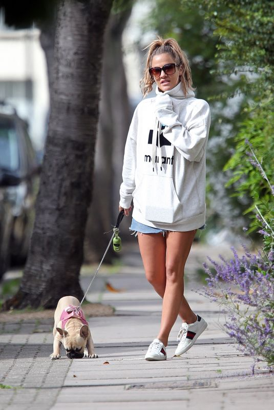 CAROLINE FLACK Out with Her Dog in London 09/14/2018