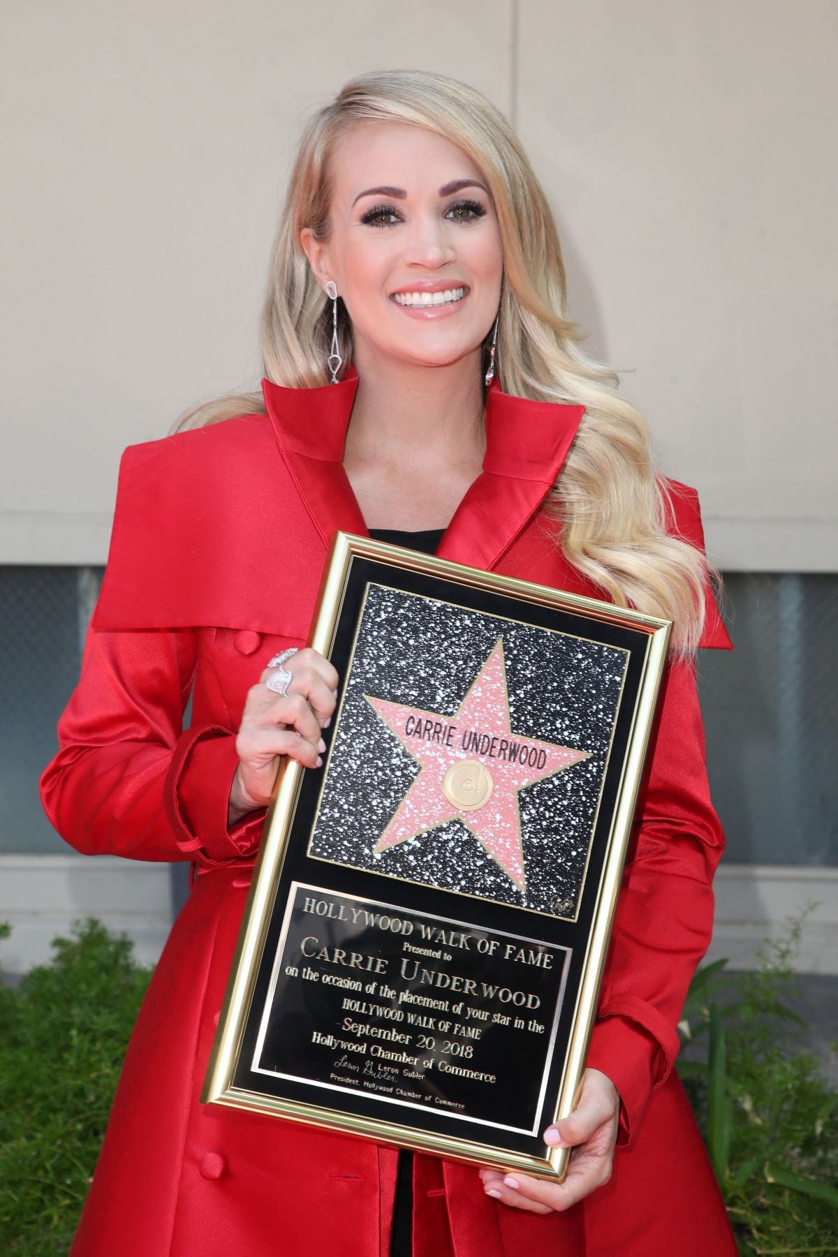 CARRIE UNDERWOOD at Hollywood Walk of Fame Star Ceremony ...