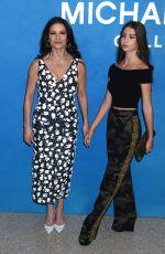 CATHERINE ZETA JONES and CARYS ZETA DOUGLAS at Michael Kors Fashion Show in New York 09/12/2018