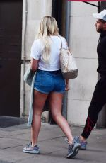 CHARLOTTE CROSBY at Euston Station in London 09/03/2018