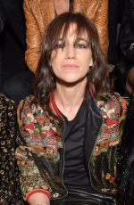 CHARLOTTE GAINSBOURG at Saint Laurent Show at Paris Fashion Week 09/25/2018