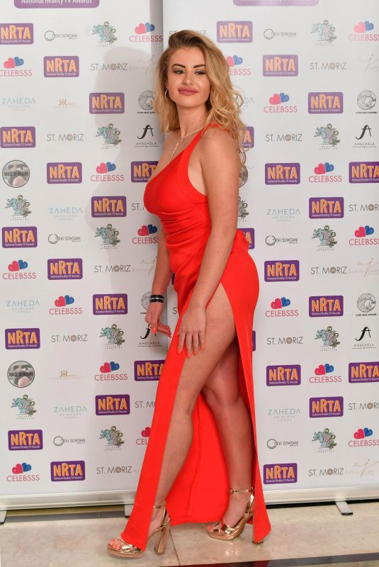 CHLOE AYLING at 2018 National Reality TV Awards in London 09/25/2018