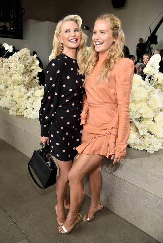 CHRISTIE and SAILOR BRINKLEY at Zimmermann Show at New York Fashion Week 09/10/2018