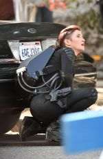 CHYLER LEIGH on the Set of Supergirl in Vancouver 09/01/2018