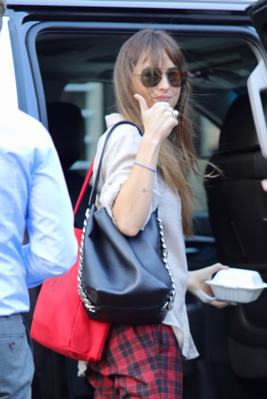 DAKOTA JOHNSON Out in Beverly Hills 09/24/2018