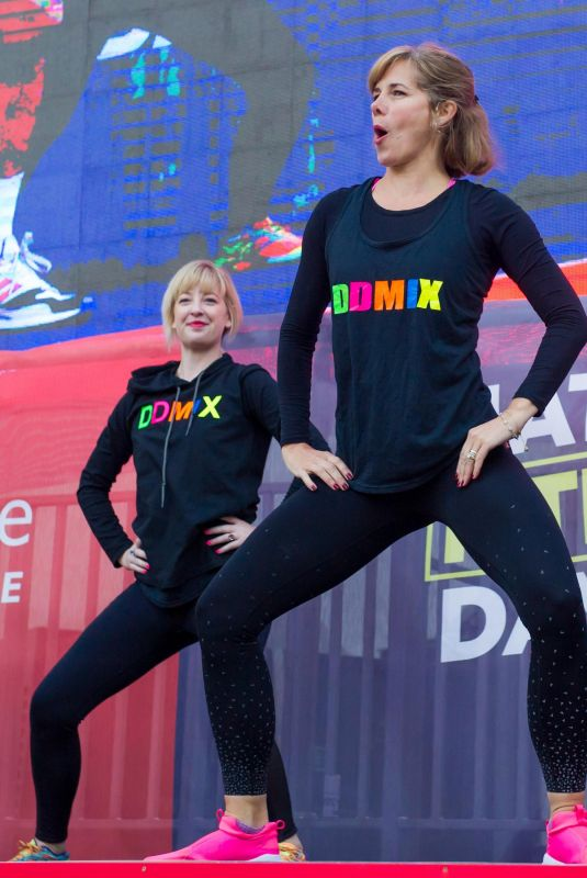 DARCEY BUSSELL Workout on National Fitness Day in London 09/26/2018