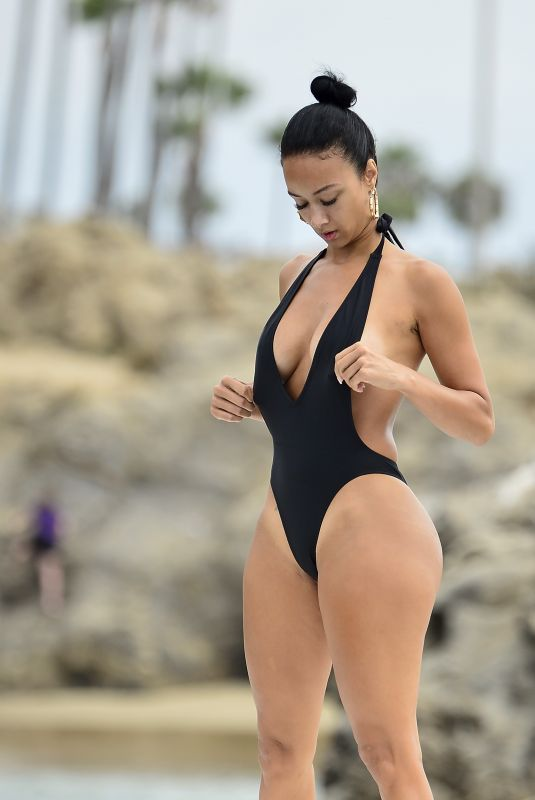 DRAYA MICHELE in Swimsuit at a Boat in Newport Beach 09/06/2018