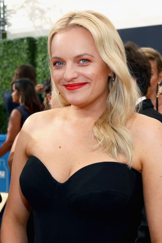 ELISABETH MOSS at Emmy Awards 2018 in Los Angeles 09/17/2018
