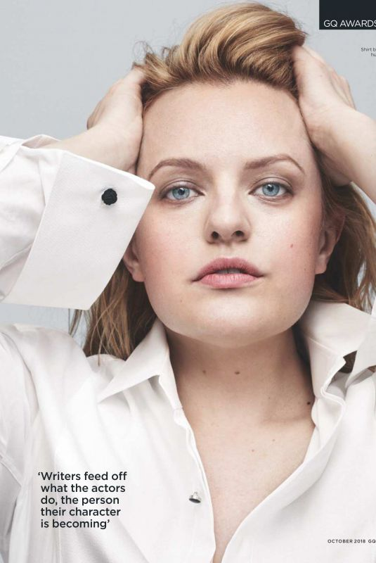 ELISABETH MOSS in GQ Magazine, UK October 2018