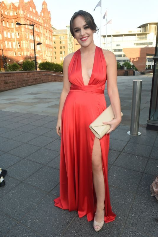 ELLIE LEACH at Eddie Stowbart Charity Ball in Manchester 08/31/2018