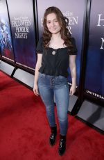 EMMA KENNEY at Halloween Horror Nights Opening in Los Angeles 09/14/2018