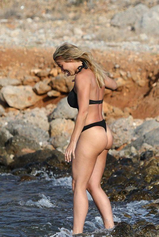 GEMMA ATKINSON in Bikini on Vacation in Crete 09/07/2018
