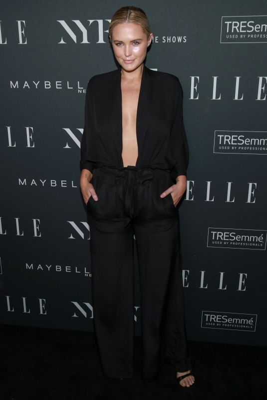 GEORGINA BURKE at E!, Elle and IMG Party in New York 09/05/2018