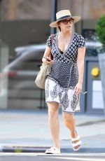 GINA GERSHON Out and About in New York 08/29/2018