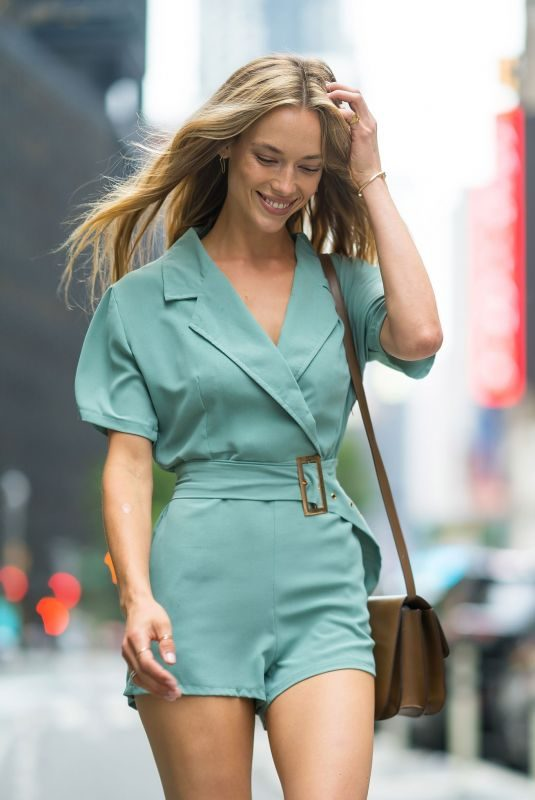 HANNAH FERGUSON at Casting Call for Victoria's Secret 2018 Fashion Show 2018 in New York 08/31/2018