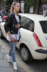 HANNAH FERGUSON Out and About in Milan 09/19/2018