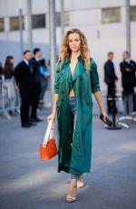 HANNAH FERGUSON Out at Paris Fashion Week 09/27/2018