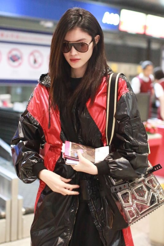 HE SUI at Airport in Beijing 09/04/2018