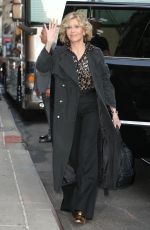JANE FONDA at Late Show with Stephen Colbert in New York 09/19/2018