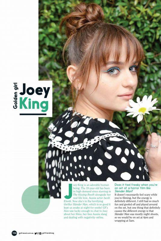 JOEY KING in Girlfriend Magazine, Australia October 2018