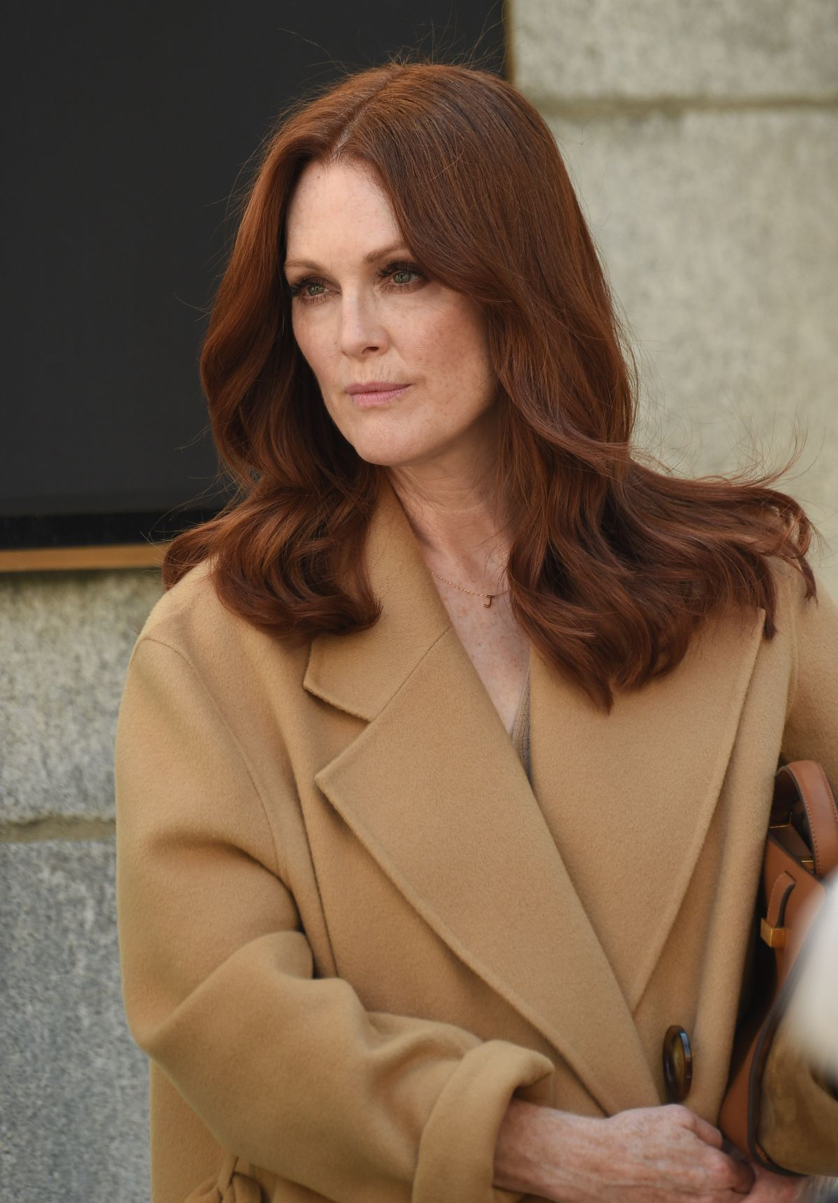 JULIANNE MOORE on the Set of L'Oreal Advety in New York 09 ...