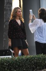 JUNO TEMPLE on the Set of Dirty John in Glendale 09/27/2018
