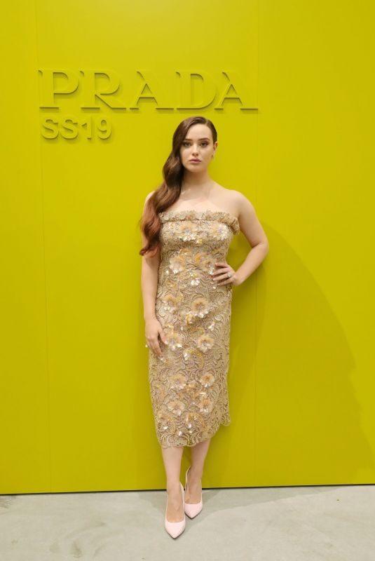 KATHERINE LANGFORD at Prada Fashion Show in Milan 09/20/2018