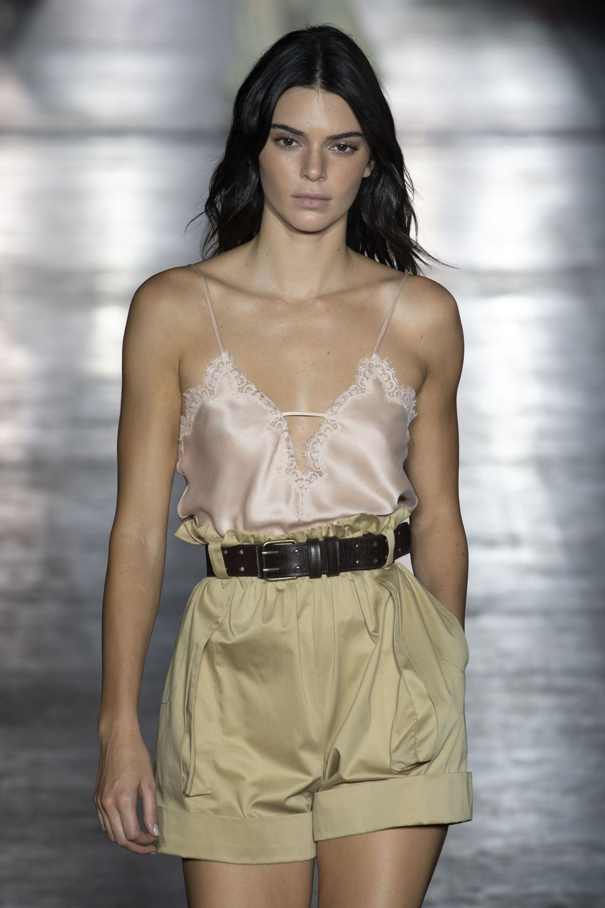 KENDALL JENNER at Alberta Ferretti Runway Shoe at Milan