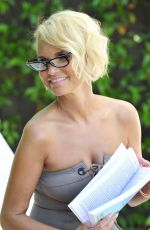 KRISTIN CHENOWETH in Swimsuit at a Pool in Beverly Hills 08/28/2018