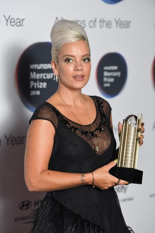 LILY ALLEN at Mercury Prize Albums of the Year Awards in London 09/20/2018