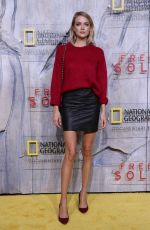 LINDSAY ELLINGSON at Free Solo Premiere in New York 09/20/2018