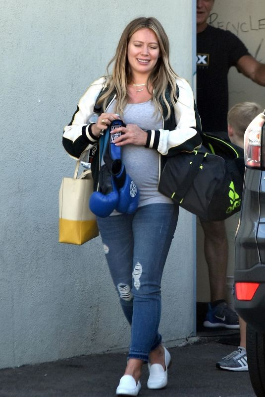 Pregnant HILARY DUFF Out in Los Angeles 09/27/2018