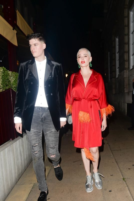 ROSE MCGOWAN at Love Magazine 10th Birthday Party in London 09/17/2018