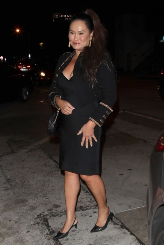 TIA CARRERE Night Out in West Hollywood 09/26/2018