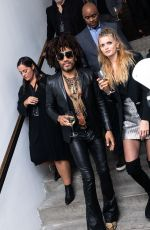 ABBEY LEE KERSHAW Assemblage Lenny Kravitz Exhibition in New York 09/28/2018