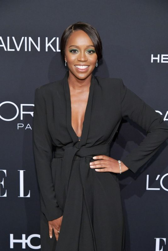 AJA NAOMI KING at Elle Women in Hollywood in Los Angeles 10/15/2018