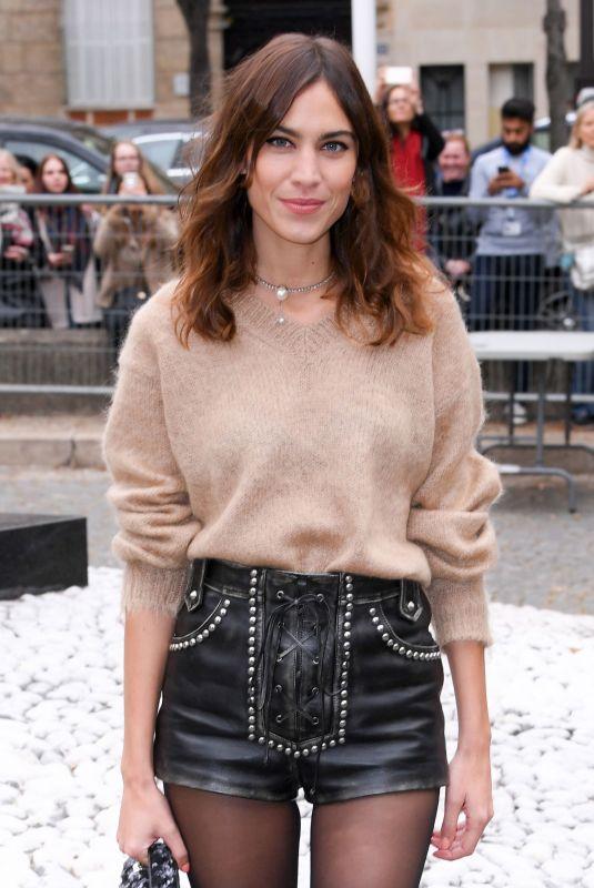 ALEXA CHUNG Arrives at Miu Miu Fashion Show at PFW in Paris 10/02/2018
