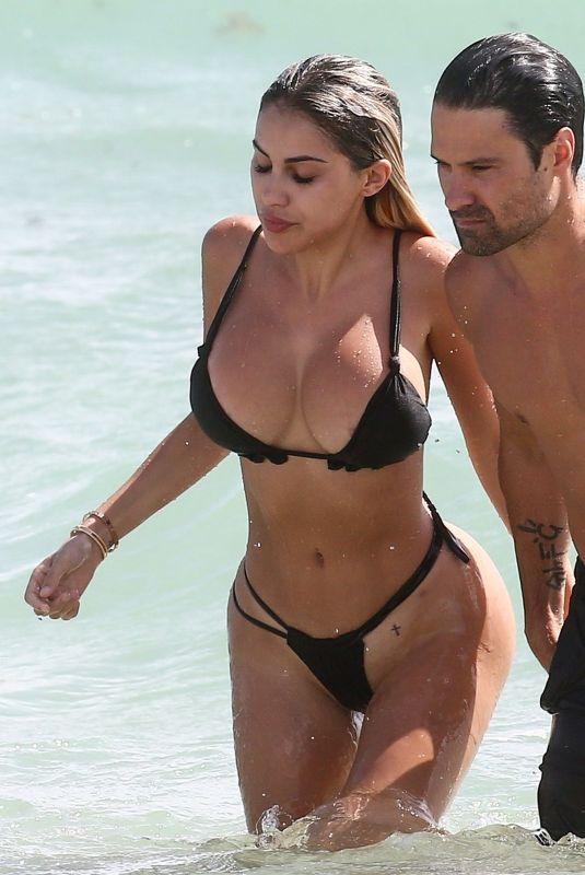 ALEXA DELLANOS in Bikini on the Beach in Miami 10/03/2018