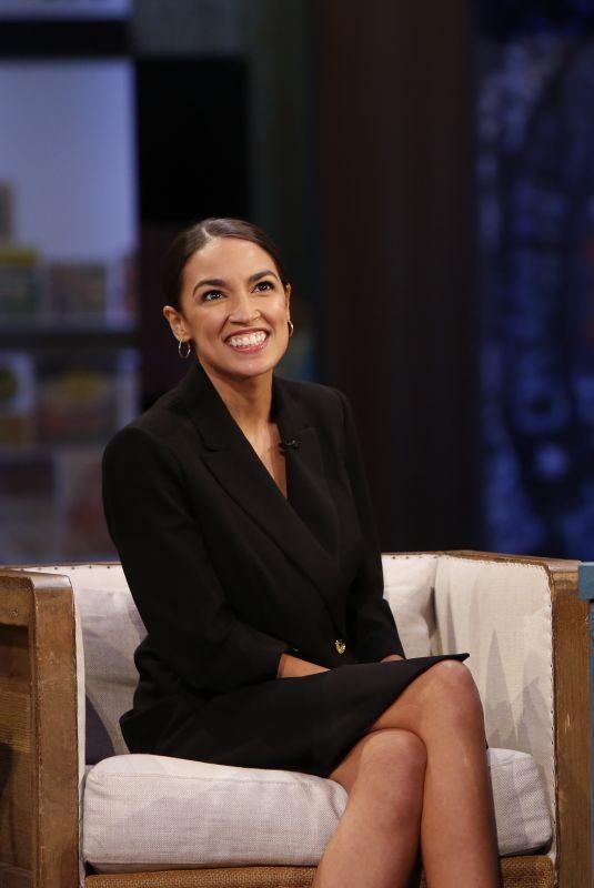 ALEXANDRIA OCASIO-CORTEZ at Jimmy Kimmel Live 10/17/2018