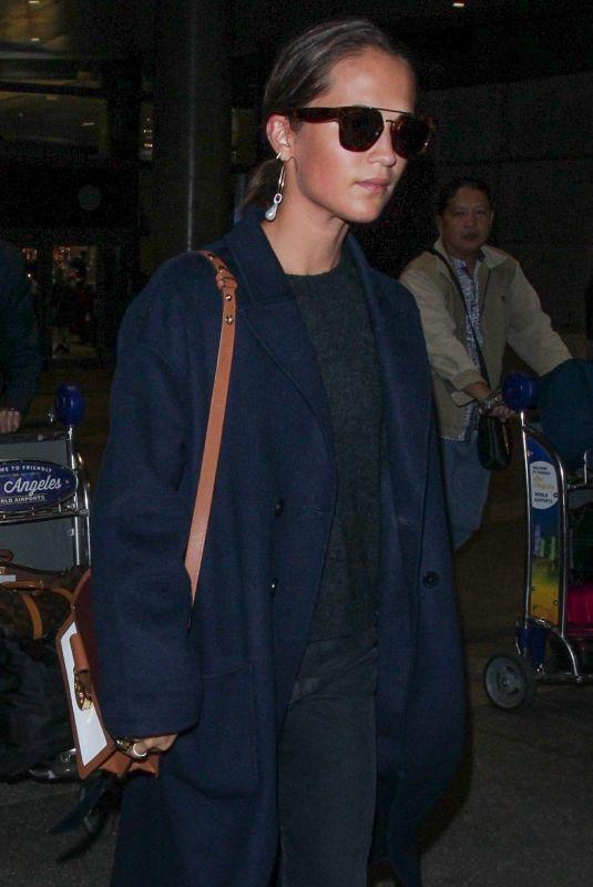 ALICIA VIKANDER at Los Angeles International Airport 10/19/2018